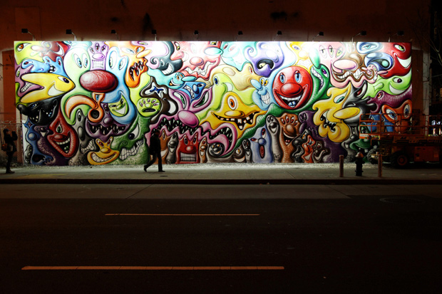 Kenny Scharf Mural in New York City