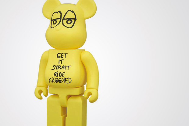 KROOKED SKATEBOARDS by Mark Gonzales x MEDICOM TOY BEARBRICK