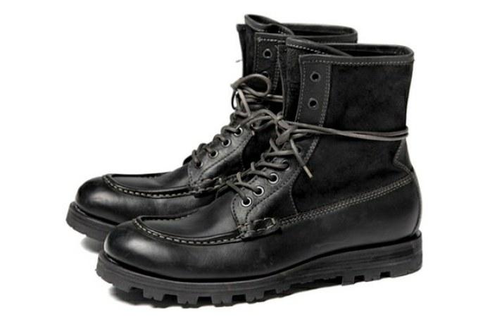 nano universe Lace Boots