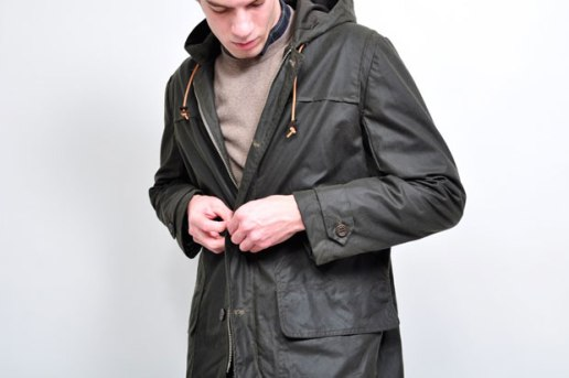Our Legacy Olive Waxed Parka
