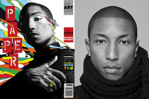 PAPERMAG 2010 November Issue featuring Pharrell Williams & Shepard Fairey