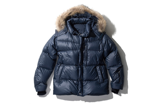 SOPHNET. 2010 Fall/Winter RIPSTOP DIAMOND DETACHABLE FUR DOWN BLOUSON