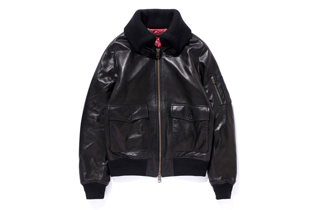 swagger Leather Flight Jacket