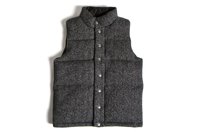 TOMORROWLAND x wings + horns Suede Tiger Fleece Vest