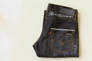 uniform experiment x Levi's Fenom U.E. NAVY DISCO Decoration Denim - A Closer Look