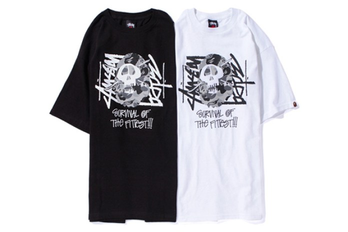 A BATHING APE x Stussy Fittest Members Tee