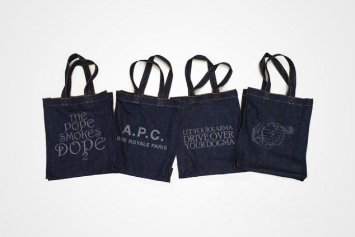 A.P.C. Denim Tote Bags