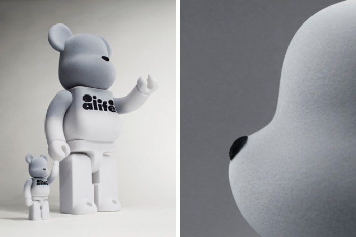 ALIFE Bearbrick FLOCKED BOX SET by Medicom Toy