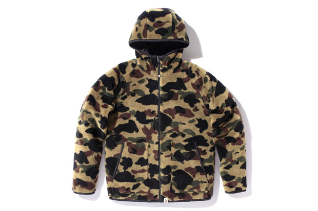 A Bathing Ape 1st Camo Reversible Fleece Hoody