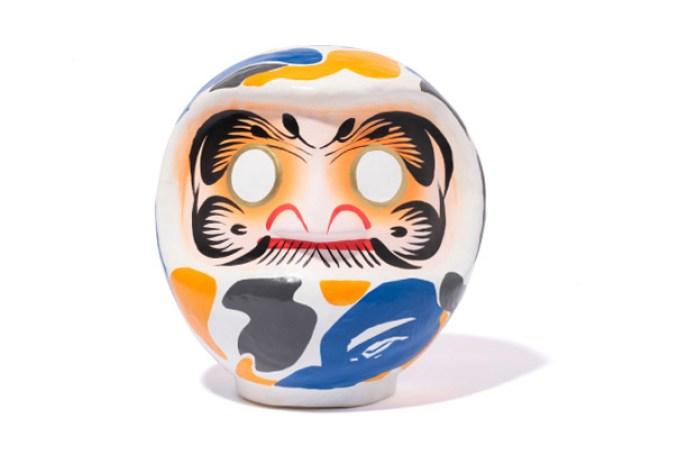 BAPE Maebashi Exclusive Camo Daruma Doll