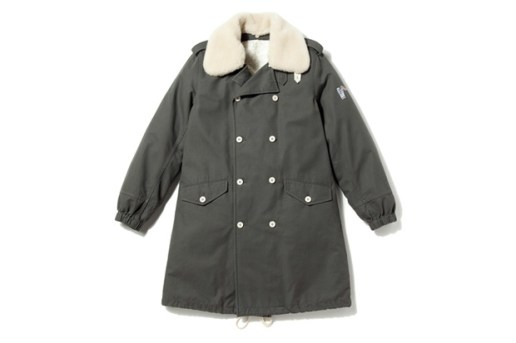Billionaire Boys Club DETACHABLE WOOL COLLAR MILITARY TRENCH