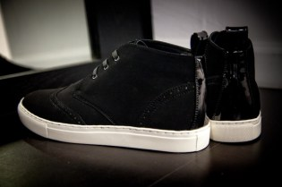 Black Scale Wingtip Footwear Collection