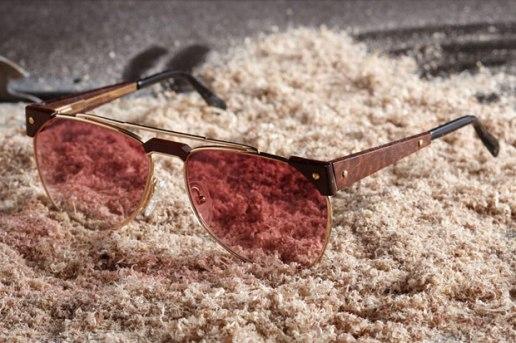 Vintage Frames Shop x Caviar Exotic Wood Sunglasses