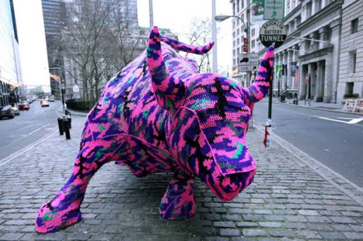 Wall Street Bull by Olek