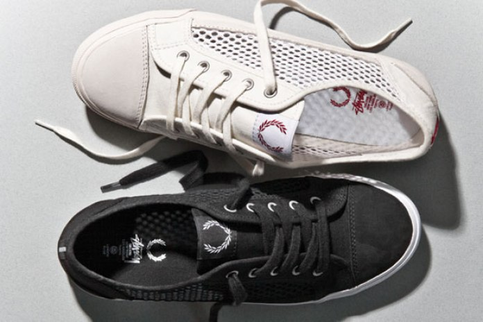 Stussy Deluxe x Fred Perry Empire Mesh Sneakers