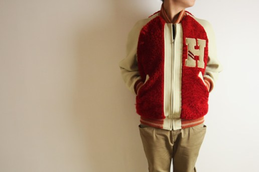 HUMAN MADE Leather Varsity Jacket
