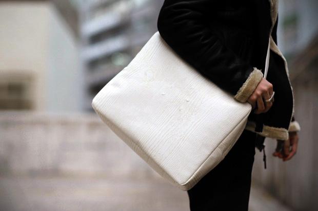 "Maison Martin Margiela ""Wood Grain"" Messenger Bag"
