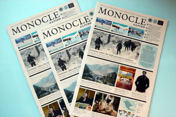 Monocle Alpino Newspaper
