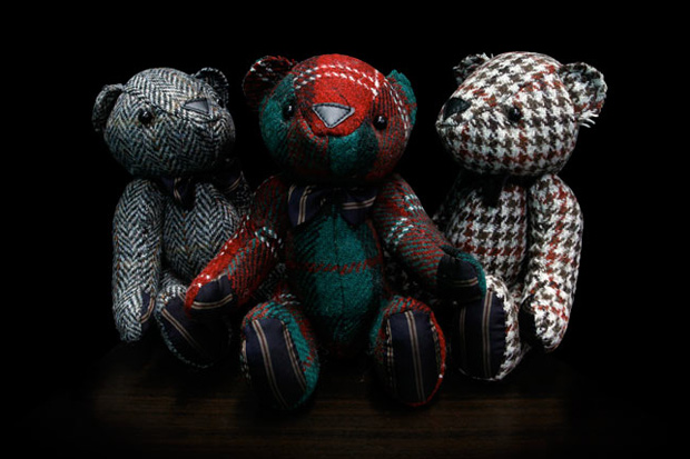 nano universe x Harris Tweed Teddy Bear