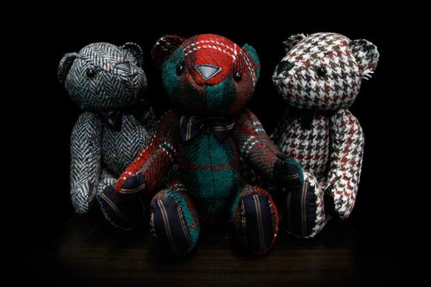 nano universe x Harris Tweed Teddy Bear