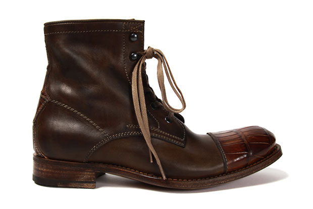 N.D.C. x CDC Leather Alligator Boots
