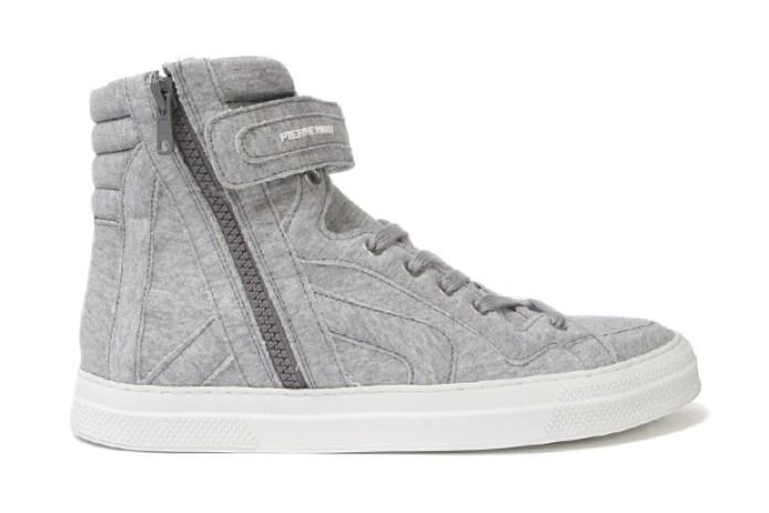 Pierre Hardy Fleece High-Top Sneakers