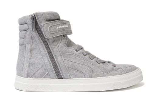 Pierre Hardy Fleece High-Top Sneakers