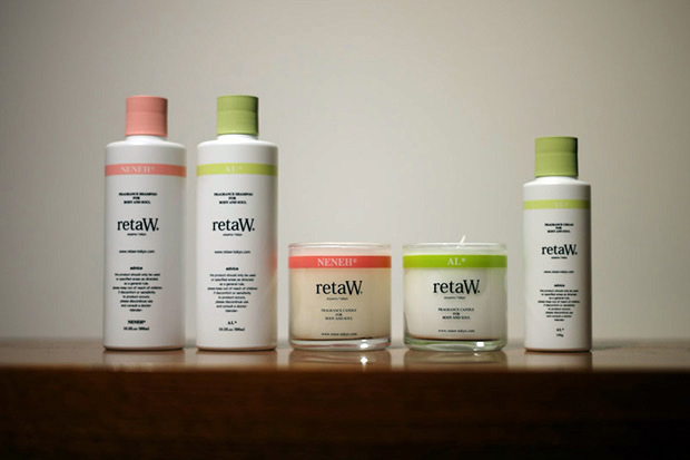 retaW NENEH* & AL* Candles, Body Shampoo and Body Cream