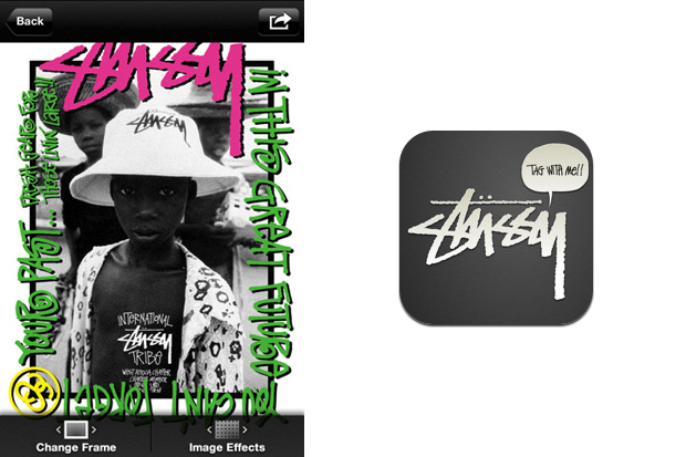 Stussy iPhone Photo Frame App