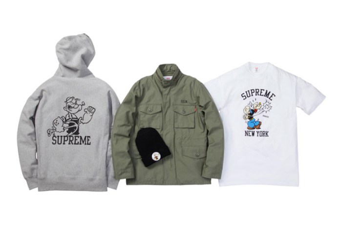 Supreme x Popeye 2010 Fall/Winter Collection