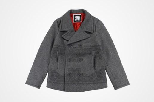 swagger Melton Pea Coat