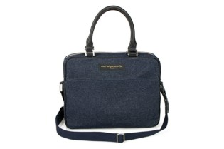 WANT Les Essentiels de la Vie Denim Laptop Bag