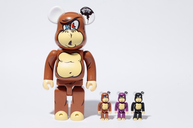 "XLarge x MEDICOM TOY BEARBRICK ""STUPID FACE"""