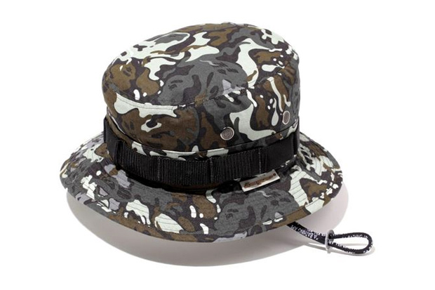 A Bathing Ape Octopus Tailor Camo Boonie Hat