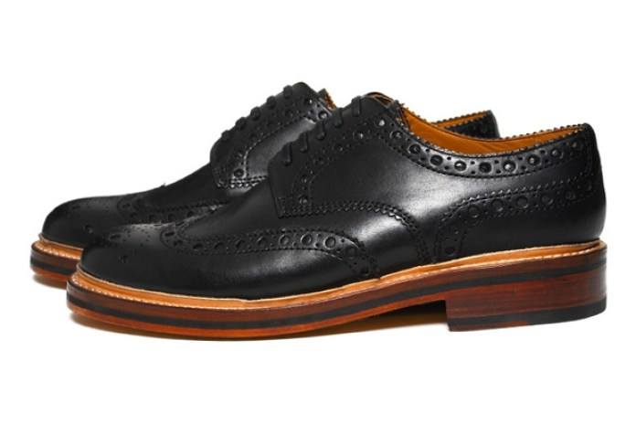 "Grenson Archie Brogue ""Waxed Leather"""