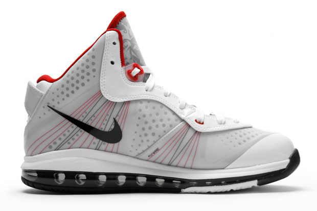 Nike Air Max LeBron 8 V2 White/Black/Sport Red