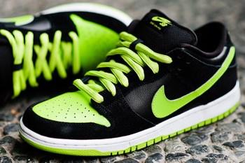 Nike SB Black/Neon Green Dunk Low
