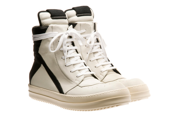 Rick Owens Two-Tone Hi-Top Sneakers