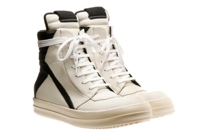 Rick Owens Two-Tone Hi-Top Sneakers