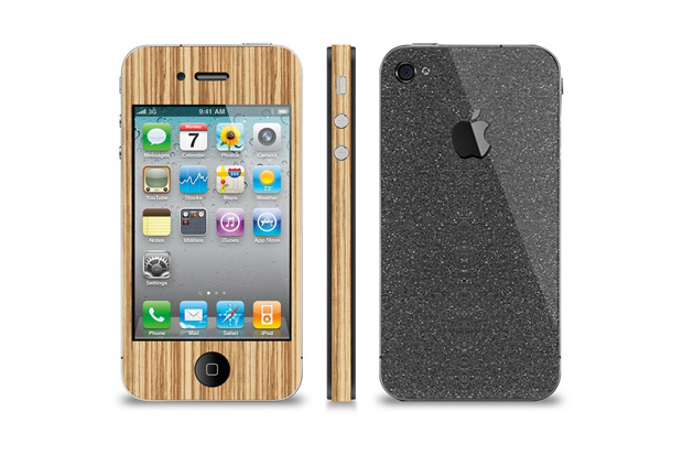 SlickWraps Board Series Black Grip Tape iPhone 4 Wrap