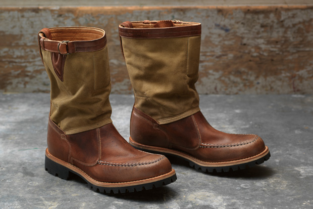"""Timberland Boot Company 2011 Fall Tackhead 10"""" Canvas/Leather Pull-On Boot"""
