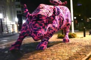 Wall Street Bull by Olek Video