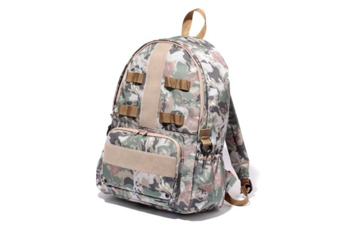 A Bathing Ape Octopus Tailor Camo Day Bag