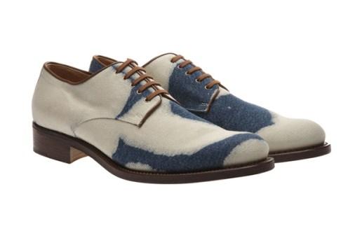 Dries Van Noten Bleached Denim Shoes