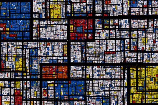 Fractal Mondrian by Samuel Monnier