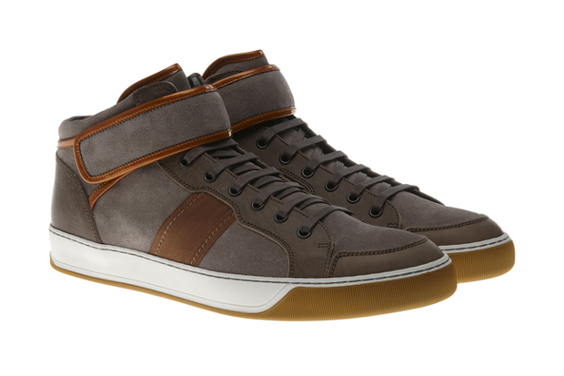 Lanvin Suede and Leather Hi-Tops