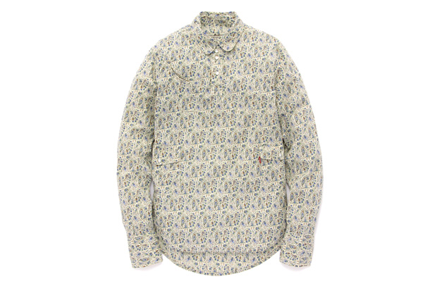 Levi's Lefty Jean LIBERTY Paisley Print Round Top Collar Shirt