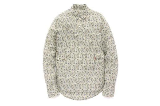 Levi's Lefty Jean LIBERTY Paisley Print Round Top Collar Shirt