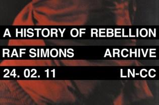 LN-CC: Raf Simons Archive Sale