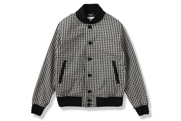 OriginalFake Gingham Varsity Jacket